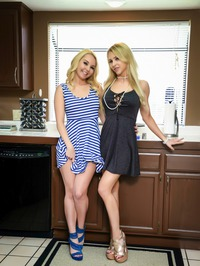 Alix And Aaliyah Use The Kitchen Counter To Fuck 00