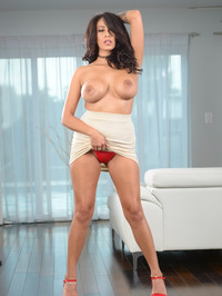 Busty Latina MILF Rayna Rose Stripping 08