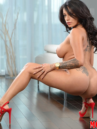 Busty Latina MILF Rayna Rose Stripping 13