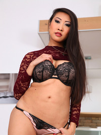 Sharon Lee Sexy Asian Babe Strips 06