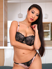 Sharon Lee Sexy Asian Babe Strips 07