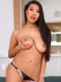 Sharon Lee Sexy Asian Babe Strips 12