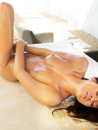 Michaela Isizzu Oils Her Hot Body 15