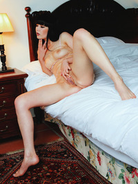 Gorgeous black haired babe Malena looks irresistible 06