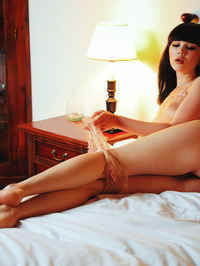 Gorgeous black haired babe Malena looks irresistible 08
