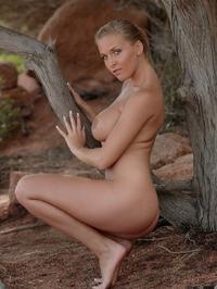 Breasty Honey Janine Posing Naked 01