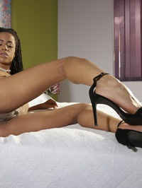 Hot Ebony Girl Kira Noirteasing On A Bed 10