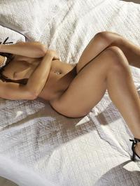 Hot Ebony Girl Kira Noirteasing On A Bed 14