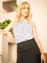 Busty Blonde MILF Brandi Love Strips On The Stairs 00