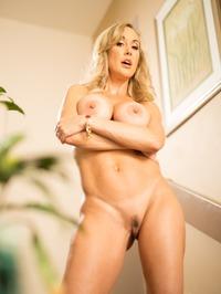 Busty Blonde MILF Brandi Love Strips On The Stairs 14