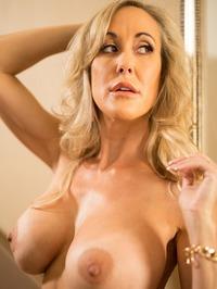 Busty Blonde MILF Brandi Love Strips On The Stairs 17