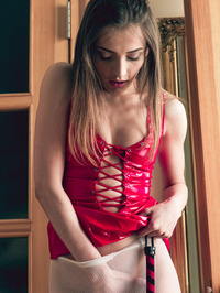Marlyn's mistress is trying to teach the hot brunette patience and obedience 04