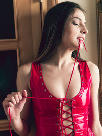 Marlyn's mistress is trying to teach the hot brunette patience and obedience 06