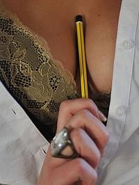 Candice unsuitable uniform at St Mackenzies 03