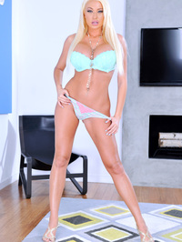 Busty Blonde Summer Brielle Removes Her Lingerie 03