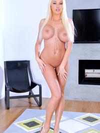 Busty Blonde Summer Brielle Removes Her Lingerie 11