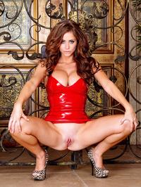 Emily Addison Red Latex Dress 06