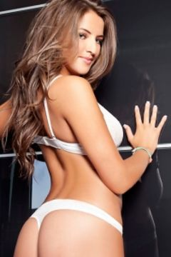 Jessica Workman white lingerie