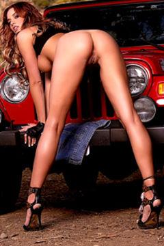Jayden Cole in miniskirt