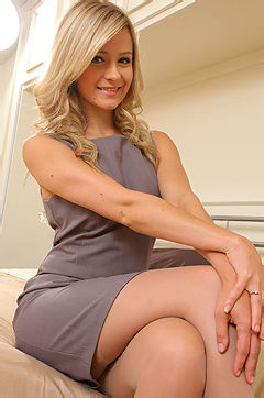 Gorgeous Blonde Secretary