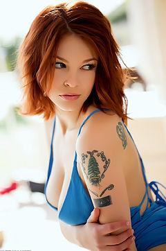 Bree Daniels In Sexy Blue Dress