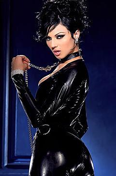 Ava Slips Out Her Black Latex Dress