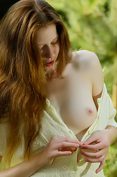 Nicole Stripping In The Woods