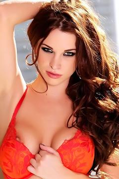 Sabrina Maree Red Lingerie