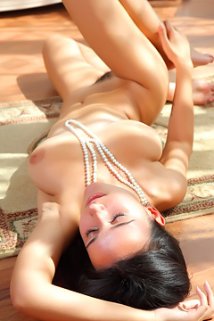 Young Beauty Sanita With Hairy Pussy