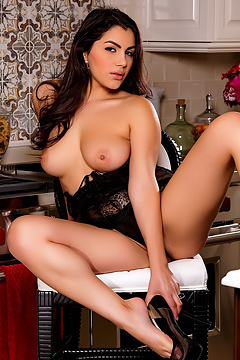 Valentina Nappi Posing In The Kitchen