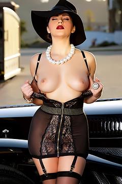 Valentina Nappi Black Lingerie