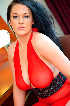 Paige In Red Dress