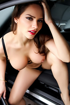 Adele Taylor Teases In Car