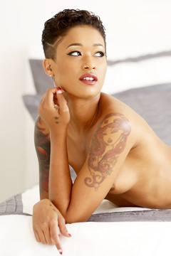 Hot Tattooed Ebony Babe
