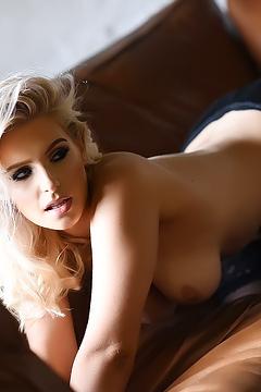 Jess Davies Teasing On The Sofa