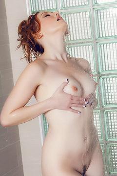 Redhead Crystal Clark Erotic Shower