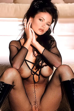 Veronika Zemanova Hot In Fishnets