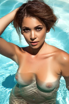 Sexy Playmate Ali Rose Naked In The Pool