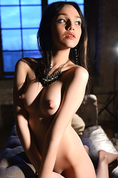 Tiny Teen Girl Mimi Naked On The Sofa