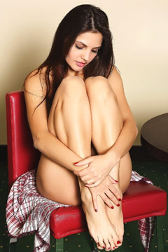 Gorgeous Alise Moreno Masturbates By The Dining Table