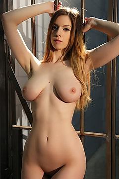 Busty Stella Cox Strips In The Prison