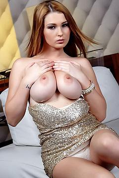 Big Titted Babe Antonia Masturbates