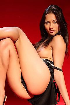 Michaela Isizzu Sexy Black Dress