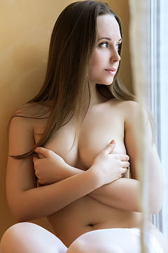 Lea A Natural Titted Brunette Russian Teen In Erotic Art Pictures