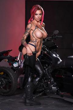 Anna Bell Peaks Biker Babe