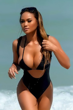 Daphne Joy On The Beach