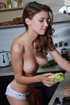 Busty Mila Azul Having Fun In The Kitchen