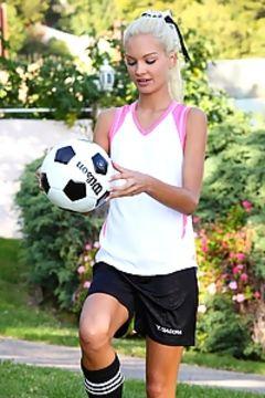 Francesca soccer star