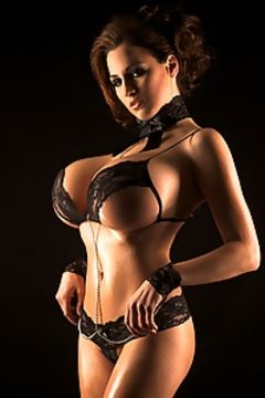 Jordan Carver in black