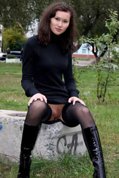 Stockings upskirt gallery